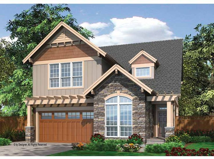 31 Best House Plans Narrow Lot With View Images On