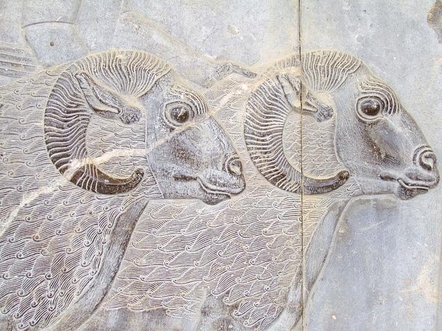 Reliefs of the Apadana, Persepolis, Iran.