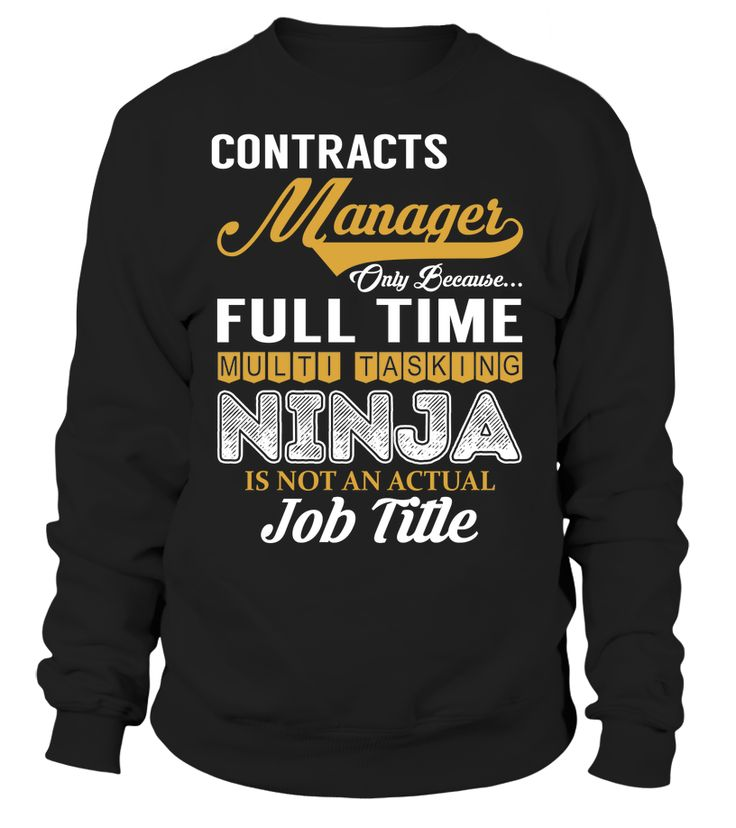 Contracts Manager - Multi Tasking Ninja #ContractsManager
