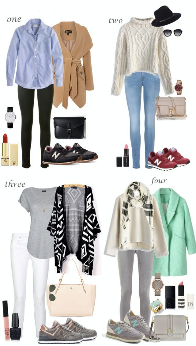 Since I'm currently loving the New Balance sneakers (took me long enough to find which ones I actually like) I thought I'd create some looks I'd like to wear with them. I don't like to think of the N