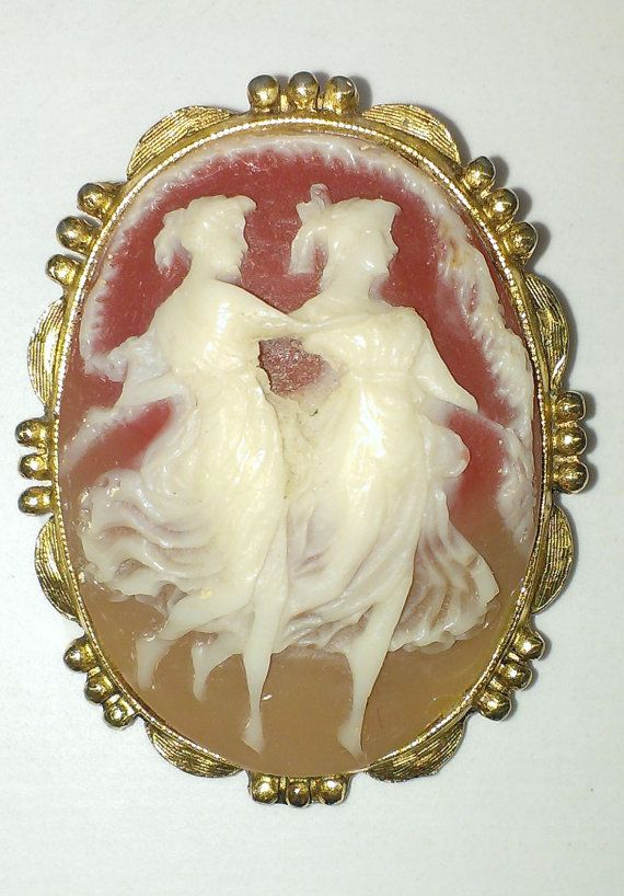 Cameo Resin Dancing 2 Victorian Ladies by ArtsyMysticDesigns, $24.95
