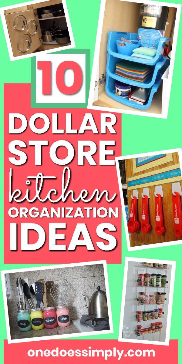 10 Dollar Store Organization Ideas for Your Kitchen