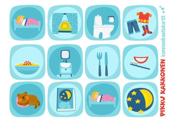 Kommunikaatiokortit | päivän puuhat I  lapset | perhe | koti | arki | kalenteri | askartelu | paperi | paper | DIY ideas | communication  | communication card | kid crafts | Pikku Kakkonen | yle.fi/lapset