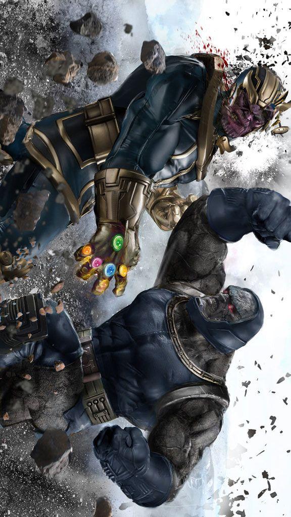"league-of-extraordinarycomics: ""Thanos vs Darkseid by Uncannyknack. """