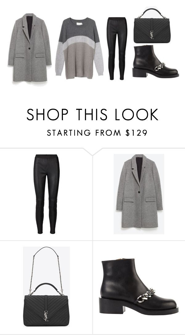 """""""Fall outfit"""" by emmavestphael on Polyvore featuring Zara, Yves Saint Laurent and Givenchy"""
