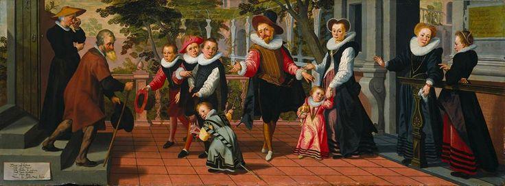 Crianças ricas, pais pobres, de Aert Pietersz. - 1599
