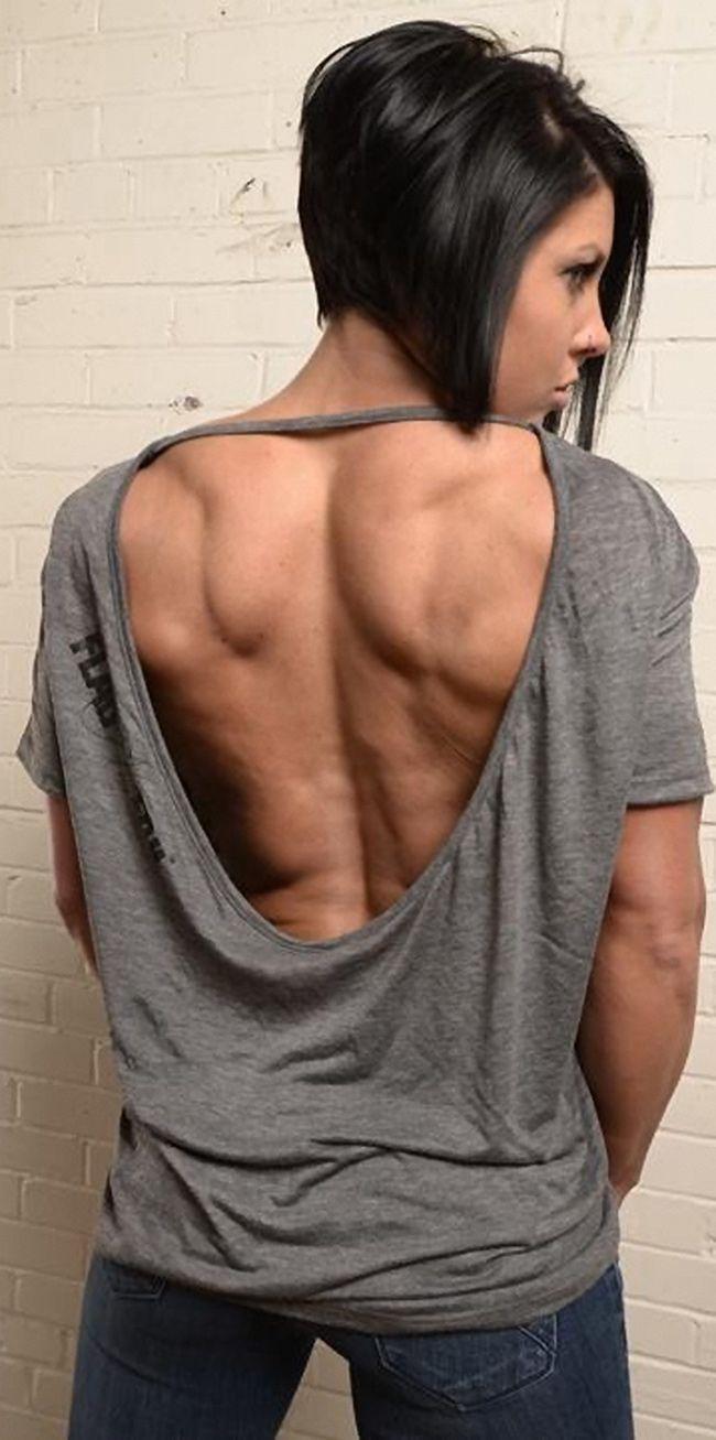 Dana Linn Bailey #back #muscles #female_athlete