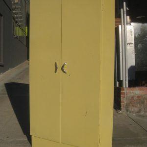 Antique Metal Storage Cabinet