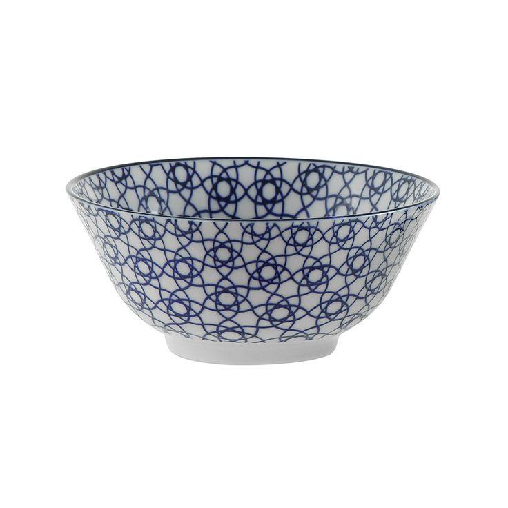 Discover the Tokyo Design Studio Nippon Blue Bowl - Stripe at Amara