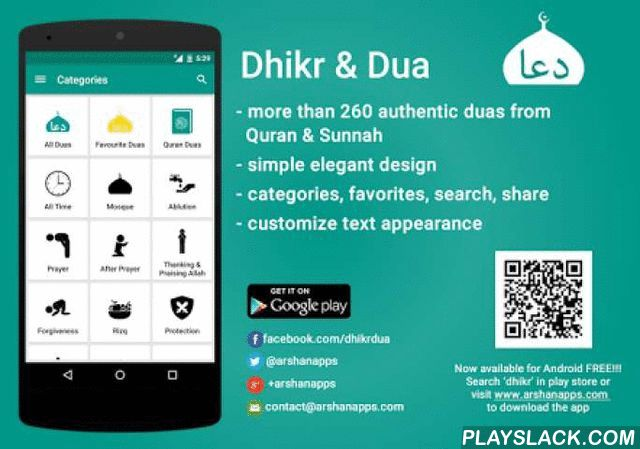 Dhikr & Dua - Quran And Sunnah  Android App - playslack.com , A MUST have app for RAMADAN 2015!!!Dhikr & Dua is an android application which provides authentic duas and dhikr found in Quran and Sunnah. The application has a simple, clean and elegant design with many useful features such as favourites, categories, search dua & dhikr and share duas. Features:- More than 260 authentic duas from Quran & Sunnah- Authentic resources include Noble Quran, Hadhees books like Sahih…