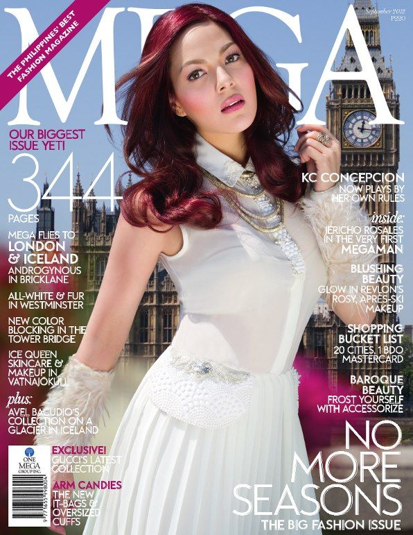 KC Concepcion on the cover of Mega Magazine PH September 2012