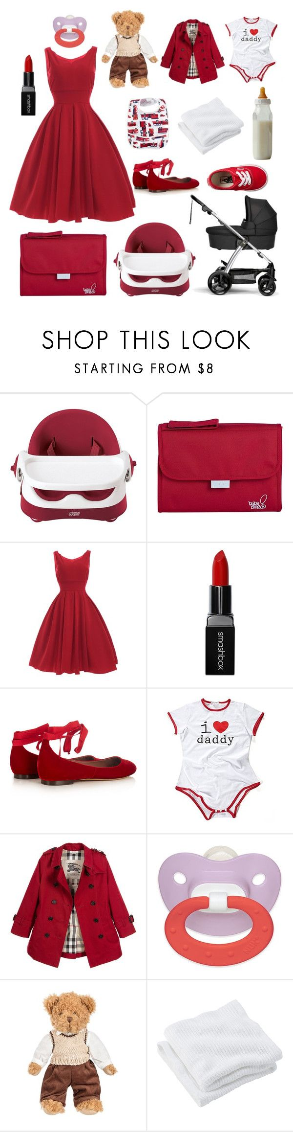 """baby"" by theresiastylesdelevingne ❤ liked on Polyvore featuring Mamas & Papas, Sola2, Smashbox, Tabitha Simmons, Burberry, Vans and Brahms Mount"