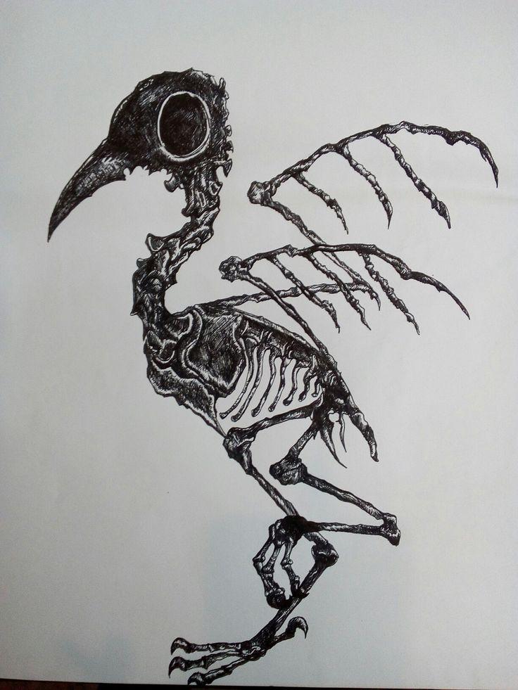 Skeletal Birdie I drew at work :)