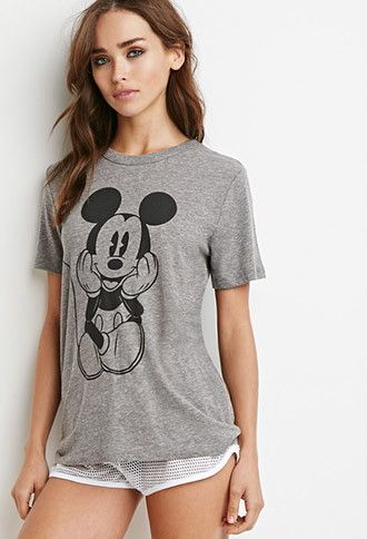 Mickey Mouse Graphic Tee | Forever 21 - 2000156005
