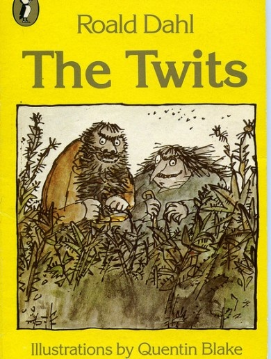 The Twits - Roald Dahl. I've still have my copy of the yellow cover stored in the garage as there is not enough room in to house my entire book collection indoors.