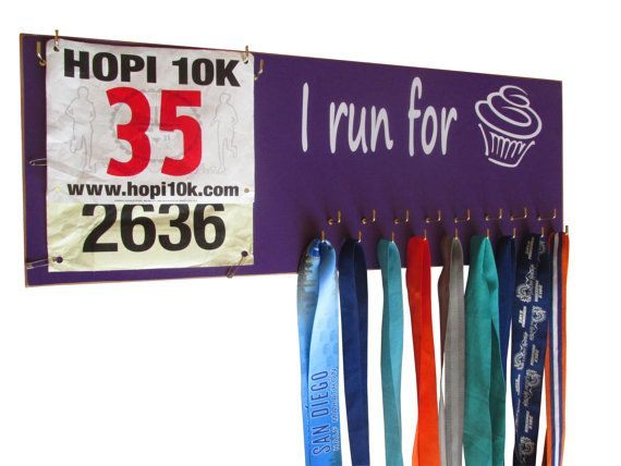Running medals holder holder for medals by runningonthewall