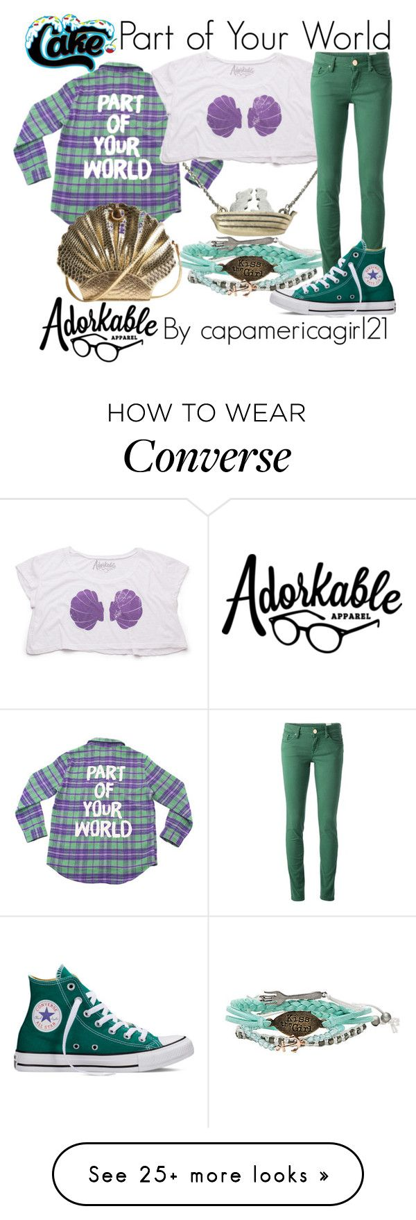 """""""Part of Your World"""" by capamericagirl21 on Polyvore featuring Disney, M Missoni, Converse, women's clothing, women's fashion, women, female, woman, misses and juniors"""
