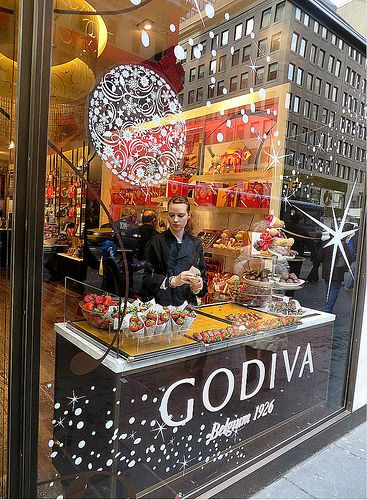 Godiva Chocolatier (at Christmas), 650 Fifth Avenue, New York City. December 7, 2013.