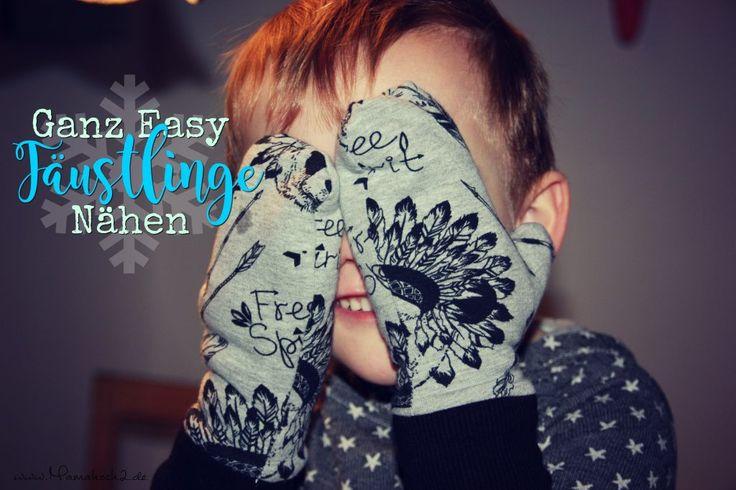 Handschuhe nähen Fäustlinge nähen Restverwertung kostenfreie Anleitung