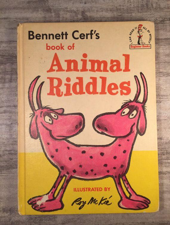Book of Animal Riddles 1964 Bennett Cerf #RoyMcKie #BegginnerBooks #BookofAnimalRiddles #BennettCerf