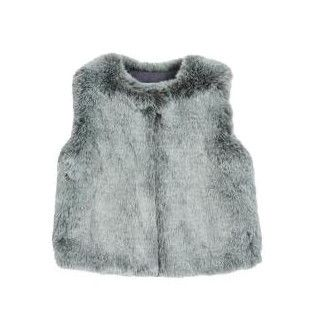 Faux Fur Vest in Boheme Grey; Fashion for my Diva Grand  Daughter!