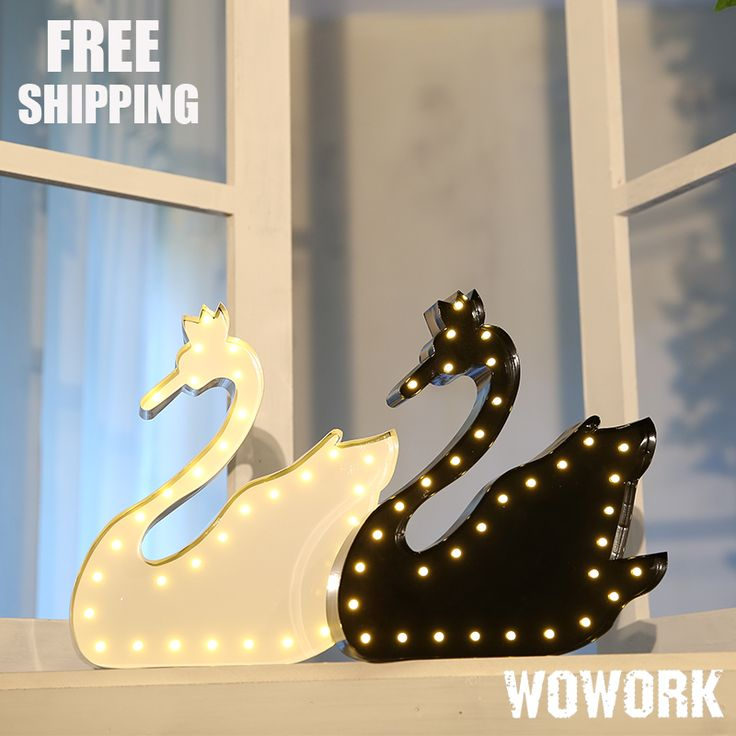 ==> [Free Shipping] Buy Best Swan vintage marquee lights family decorative lamp metal steel battery operated holiday time lights Mini Led Christmas Lights Online with LOWEST Price | 32818386673