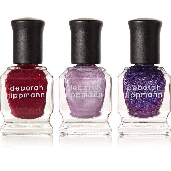 Deborah Lippmann Purple Rain Nail Polish Set (670 UAH) ❤ liked on Polyvore featuring beauty products, nail care, nail polish, deborah lippmann, deborah lippmann nail polish, deborah lippmann nail lacquer and deborah lippmann nail color