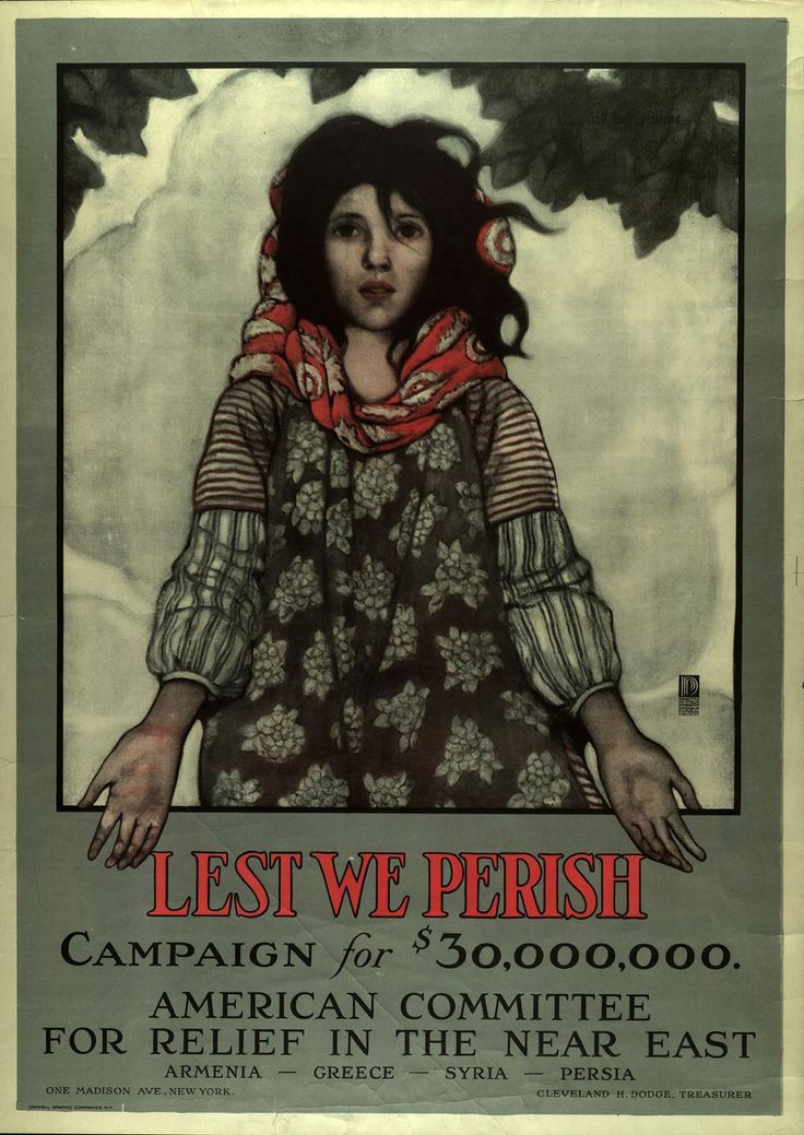 Ottoman Empire Flag During Ww1 Refugee appeal poster ...