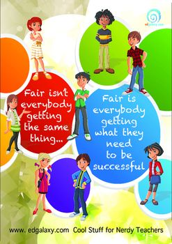 This is an excellent poster that represents the notion of fairness to students…