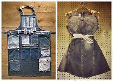 Джинсовые фартуки / Переделка джинсов / Модный сайт о стильной переделке одежды и интерьера