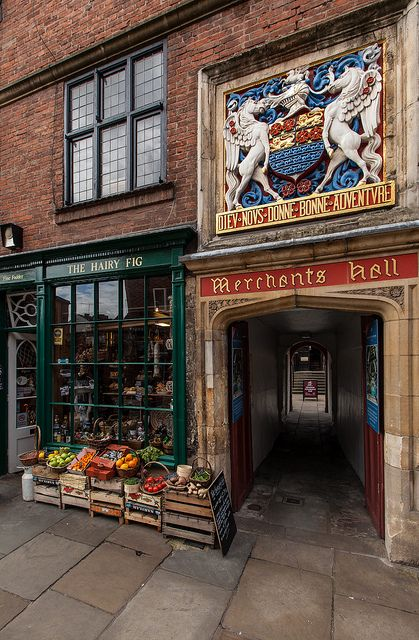 ~York - Fossgate~     The Merchant Adventurers Hall has been there for 650 years, still owned by the same company of citizens