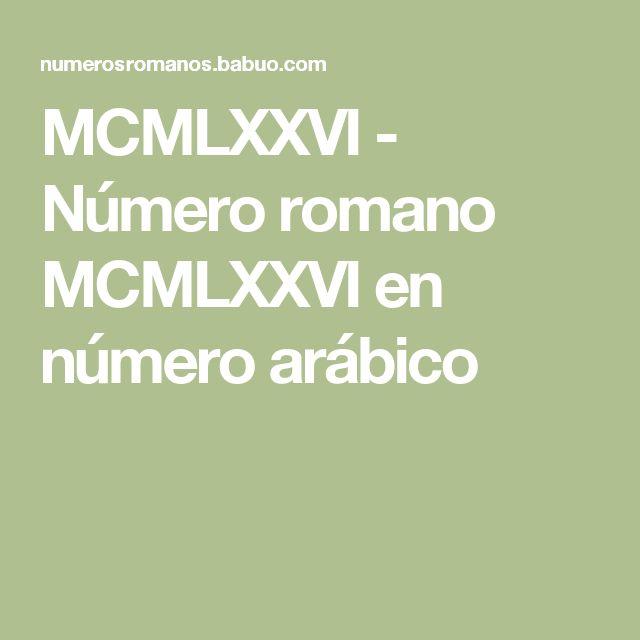MCMLXXVI - Número romano MCMLXXVI en número arábico