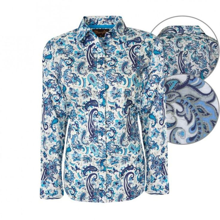Wrangler Womens Lila Shirt White/Jade/Ink $89.95 The amazing colour combination on this shirt will ensure you won't get overlooked!