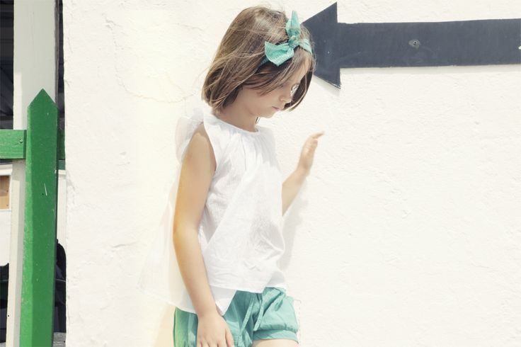 Green shorts for more colourful summer!