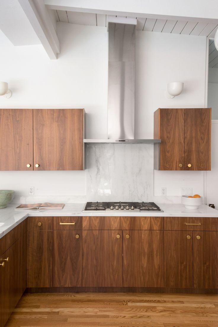 Nichols Canyon Studio Tim Campbell In 2020 Contemporary Wooden Kitchen Mid Century Modern Kitchen Design Modern Kitchen Design