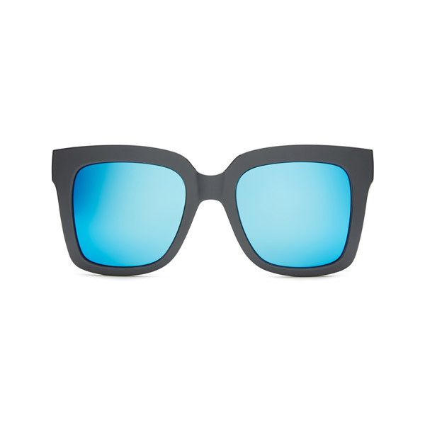 Quay Australia QU-000166 SUPINE GREY/BLUE Sunglasses ($45) ❤ liked on Polyvore featuring accessories, eyewear, sunglasses, grey, grey sunglasses, blue lens glasses, blue lens sunglasses, lens glasses and grey lens sunglasses