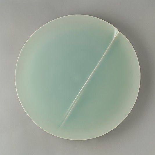 """Speechless"" - the Japanese just nail it sometimes - Fukami Sueharu | Porcelain with celadon glaze, 2004"