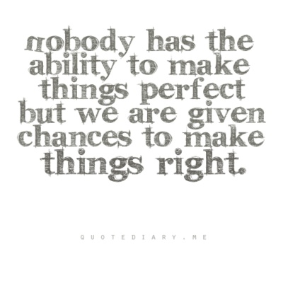 Nobody Has The Ability To Make Things Perfect Quotes Quotes
