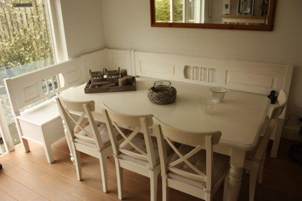 nieuwe eethoek in nieuwe keuken ;-) keep on dreaming