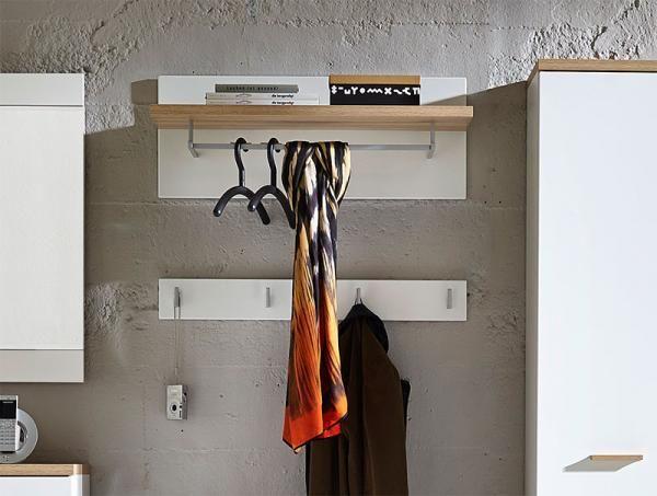 Germania Oslo Oak and White Hallway Coat Rack