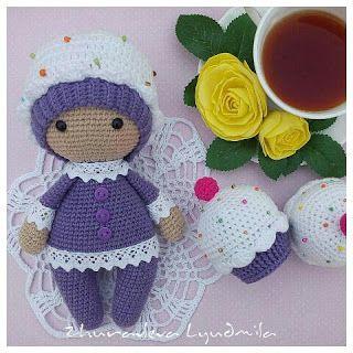 Схема вязания куклы амигуруми Пироженки