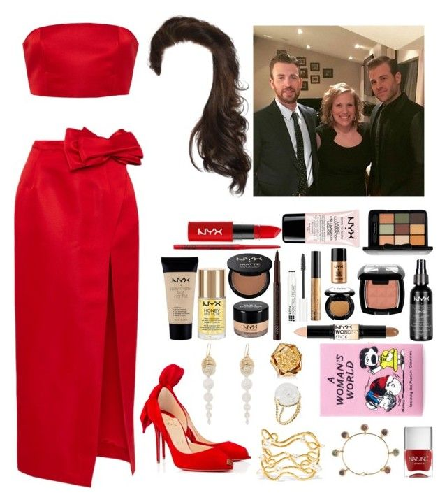 """""""Pre-Oscar Party with the Evans family (Feb. 27th, 2016)"""" by rosie-charlotte ❤ liked on Polyvore featuring moda, Katie Ermilio, Christian Louboutin, NYX, Aurélie Bidermann, Olympia Le-Tan e Nails Inc."""