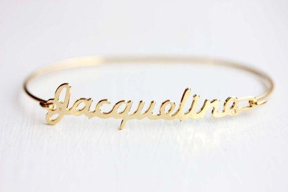 Vintage Name Bracelet  Jacqueline by diamentdesigns on Etsy, $16.00 my name yay!!!