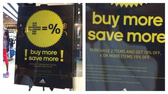 Buy more, save more. Really?