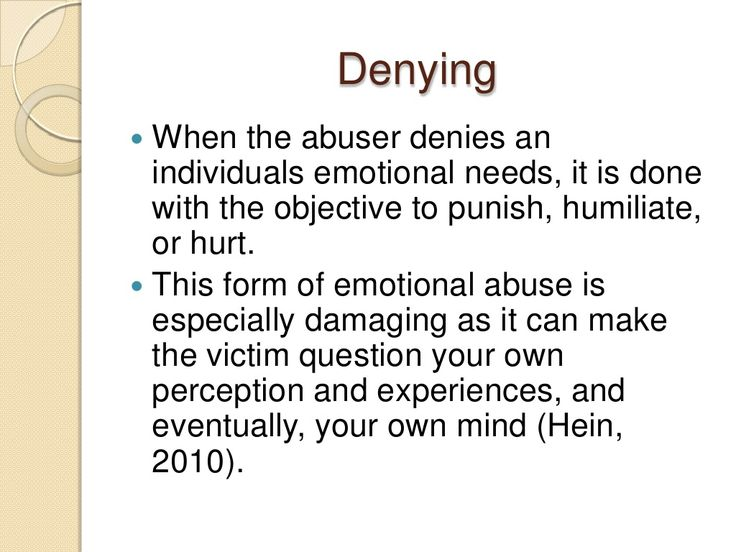 Emotional Abuse And The Effect On The Victim