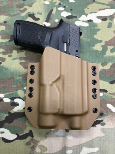 Coyote Tan Kydex Holster Sig P320 Compact Threaded Barrel Streamlight TLR-1 #111