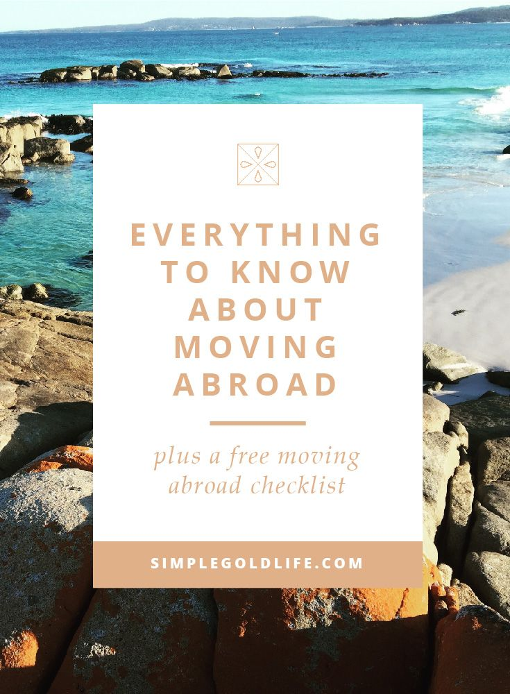 Moving abroad can be extremely stressful! There are millions of to-do's running through your mind at all times. It's okay, you will get through it! Here's Everything You Need to Do Before You Move Abroad, a SimpleGoldLife.com guide.