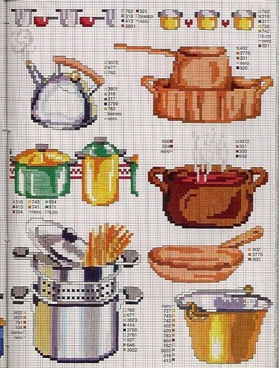 712 Best Images About Cross Stitch Kitchen On Pinterest Punto Cruz Stitching And Cuisine