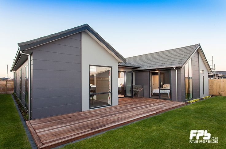 STRIA cladding from James Hardie (www.jameshardie.co.nz) is a wide format cladding with a 15mm horizontal groove that has the classic appeal of a solid masonry. Resene JUMBO (www.resene.co.nz) is a giant among greys. Also available as a Resene CoolColour.