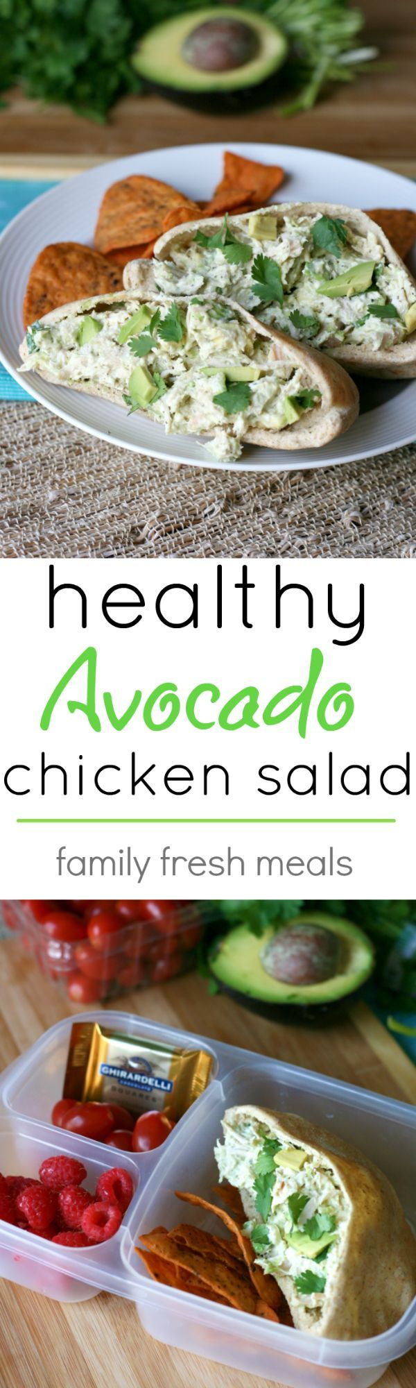 Healthy Avocado Chicken Salad Recipe - If you love chicken salad and avocados, then you are going to go ga-ga for this recipe!